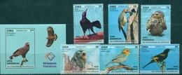 Cuba, Local Birds, 2018, 6 Stamps + Block - Vogels