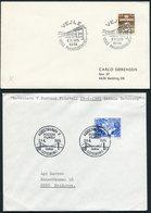 1975-89 Denmark X 6 Bridge Illustrated Postmark Covers - Covers & Documents