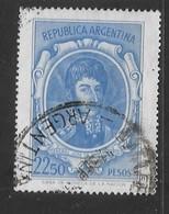 ARGENTINA   1975/1976 Personalità Argentine -  $22,50 BLUE  GJ#1648 LARGE, WM (T) 13 CASA DE LA MONEDA USED - Usati