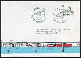 1975 Denmark Vejle Philatelic Club, Bridge Cover - Covers & Documents