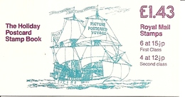 GREAT BRITAIN, FOLDED BOOKLET, 1982 FN 3 Golden Hinde, Selvedge At Left - Libretti