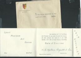 """LAC  Entete """"Club Sportif Français De Trève """" Contenant Une Invitation à Un Gala D'escrime Le 5/06/1949 Modb20306 - Documents"""