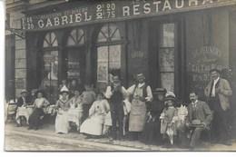 CARTE-PHOTO YVELINES 78  VERSAILLES Restaurant GABRIEL  5 (ou 6 ) Rue Du Vieux Versailles (localisation Garantie ) - Versailles