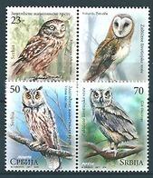 Serbia (2017) - Set -   /  Birds - Oiseaux - Owls - Eulen - Aves - Eulenvögel