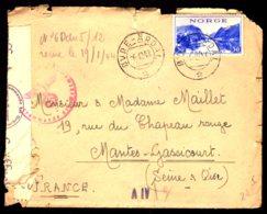 STO En Norvège - Censure Militaire - OVRE-ARDAL Du 06/12/43 - Lettres & Documents