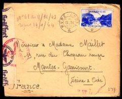 STO En Norvège - Censure Militaire - OVRE-ARDAL Du 13/12/43 - Lettres & Documents
