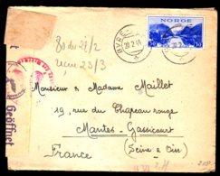 STO En Norvège - Censure Militaire - OVRE-ARDAL Du 28/02/44 - Lettres & Documents