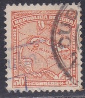 Cuba, Scott #261, Used, Map, Issued 1914 - Cuba