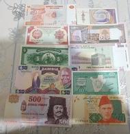 COLLECTION DE 10BANKNOTES UNC..... - Banknotes