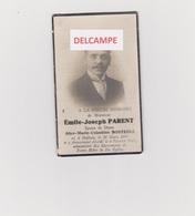 DOODSPRENTJE PARENT EMILE EPOUX DE BOSTEELS HALLUIN 1895 - 1935 MET FOTO    Bewerkt Tegen Kopieren - Images Religieuses