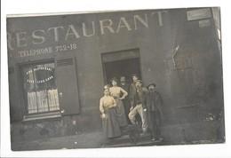 MONTROUGE (92) Carte Photo Grande Rue Devanture De Restaurant Animation - Montrouge