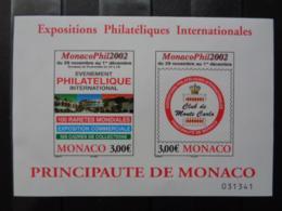 MONACO 2002 BLOC Y&T N° 88 ** - MONACO PHIL 2002, EXPO PHILATELIQUE - Monaco