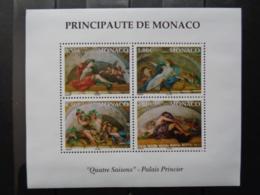 MONACO 2002 BLOC Y&T N° 87 ** - LES 4 SAISONS ' PALAIS PRINCIER ' - Monaco