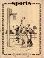 BEAU Protège Cahier Ancien SPORTS BASKET BALL - Book Covers