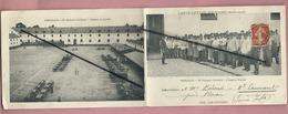 Carte Lettre Militaire Double - Versailles - 22eme Régiment D'Artillerie - Intérieur Du Quartier-L'Appel Au Pansage - Versailles