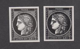 France - Variété Du Timbre Cérès - 170 Ans Du 1er Timbre Français -1849-2019 - Sheetlets