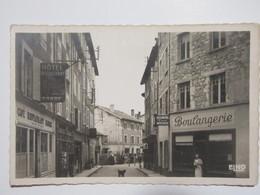 Cpsm, Carte Photo, Trés Belle Vue Animée, LA LOUVESC, Grande Rue - La Louvesc