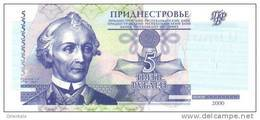 TRANSDNIESTRIA P. 35a 5 R 2000 UNC - Bankbiljetten