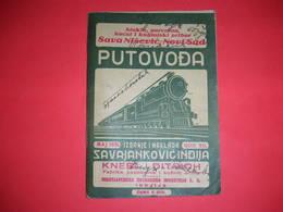R;railway Travel Guide,train Timetable,Moor Furniture,Knebl&Ditrich Parachute Advertising,Yugoslavia Kingdom,railroad - Europe