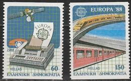 Gréce Griekenland CEPT 1988 Yvertn° 1667-1668*** MNH Cote 15,00 Euro - 1988