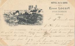 A P 677 -  C P A -  POIX - TERRON    (08)     HOTEL DE LA GARE ERNEST LOCART -  LAON  VUE PANORAMIQUE - Autres Communes