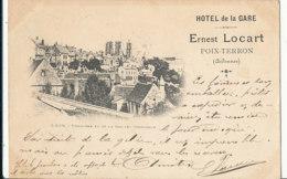 A P 678 -  C P A -  POIX - TERRON    (08)     HOTEL DE LA GARE ERNEST LOCART -  LAON   PANORAMA VU DE LA RUE  DES CHENIZ - Autres Communes