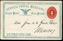 Mexico Postal Card MEPSI #PC42 Type I Postmark Oaxaca 1891 Cat. $5.00 - Mexique