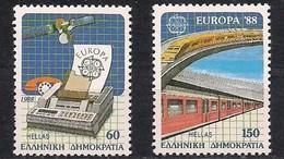 Gréce Griekenland CEPT 1988 Yvertn° 1665-1666 *** MNH Cote 14,00 Euro - 1988