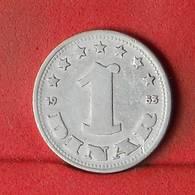 YUGOSLAVIA 1 DINAR 1953 -    KM# 30 - (Nº32435) - Yugoslavia