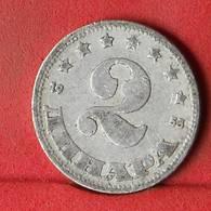 YUGOSLAVIA 2 DINARA 1953 -    KM# 31 - (Nº32436) - Jugoslawien