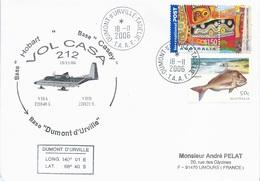 TAAF - Dumont D'Urville-T.Adélie: Lettre Avec Timbres Australie N°2099 Et 1946 - 18/11/2006 - Terres Australes Et Antarctiques Françaises (TAAF)