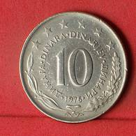 YUGOSLAVIA 10 DINARA 1976 -    KM# 62 - (Nº32439) - Jugoslawien