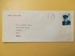 1974 BUSTA GRAN BRETAGNA GREAT BRITAIN BOLLO WINSTON CHURCHILL ANNULLO ROMFORD OBLITERE' - 1952-.... (Elisabetta II)