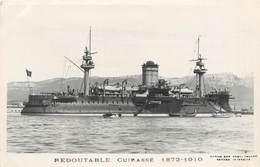 """BATEAUX DE GUERRE - Cuirassé   """"Redoutable"""" (éditeur Marius Toulon). - Guerre"""