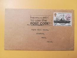 1974 BUSTA GRAN BRETAGNA GREAT BRITAIN BOLLO ANNIVERSARY U.P.U. ANNULLO STOURBRIDGE OBLITERE' ETICHETTA - 1952-.... (Elisabetta II)