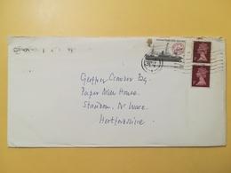 1974 BUSTA GRAN BRETAGNA GREAT BRITAIN BOLLO ANNIVERSARY U.P.U. ANNULLO LONDON OBLITERE' - 1952-.... (Elisabetta II)