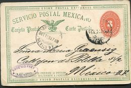 Mexico Postal Card MEPSI #PC43 Type I Used Mexico DF 1893 - Mexique