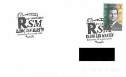 SPAIN. POSTMARK 25th ANNIV. RADIO SAN MARTIN. SOTRONDIO 2016 - España