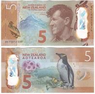 New Zealand - 5 Dollars 2016 UNC Polymer Lemberg-Zp - Nieuw-Zeeland