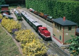 Ansichtskarte Werdau Modelleisenbahn - Museumsgartenbahn 1995 - Werdau