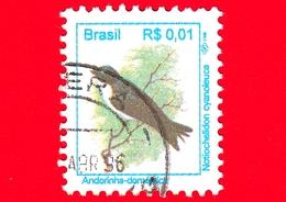 BRASILE - Usato - 1994 - Uccelli Brasiliani - Birds - Andorinha - 0.01 - Brazilië