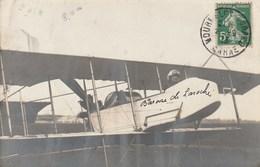 Carte Photo - Baronne De Laroche (Elisa Deroche)  - Première Aviatrice Brevetée Au Monde - Airmen, Fliers