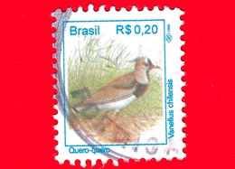 BRASILE - Usato - 1994 - Uccelli Brasiliani - Pavoncella  - Birds - Quero-quero - Vanellus Chilensis -  0.20 - Brazilië