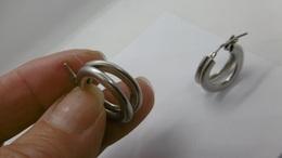 Jolies Créoles En Argent Massif Diamètre:2 Cm - Earrings
