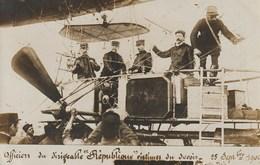 """Officiers Du Dirigeable """"Republique"""" Victimes Du Devoir - 25 Septembre 1909 - Airships"""