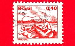 BRASILE - Usato - 1980 - Professioni - Lavoro - Vaqueiro - Cowboy - 0.40 - Gebruikt