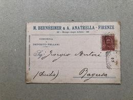 FIRENZE  M. BERNHEIMER & A. ANATRELLA  CONCERIA E DEPOSITO PELLAMI  1900 - Firenze