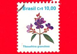 BRASILE - Usato - 1990 - Flora - Piante - Tibouchina Granulosa - 10.00 - Brazilië
