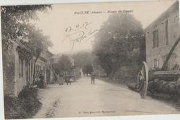Baulne  02   La Route De Condé Animée Et Facteur - France
