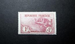 FRANCE 1917 N°154 * (ORPHELINS DE LA GUERRE 1ÈRE SÉRIE. MARSEILLAISE. 1F + 1F CARMIN) - France